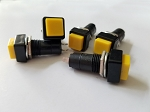 Yellow Button Square Top Latching On/Off Switch 2 Pack