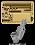 COLONIAL VIPER MK.VII SEAT Photoetch and Resin Detail set for the Moebius/Revell Model Kit by GREEN STRAWBERRY