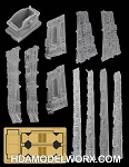 VENATOR CLASS STAR DESTROYER CLEAR RESIN SIDE PANELS AND PHOTOETCH DETAIL SET for the Revell 1/2274 Scale Model Kit by GREEN STRAWBERRY