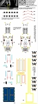 REPLACEMENT 350 SCALE REFIT SHUTTLE BAY DECAL SET for the Polar Lights Model Kit by HDAMODELWORX