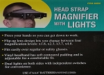 Head Strap Magnifier with Lights
