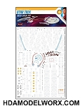 Star Trek Aztec Decal Set 1:1000 Scale for USS Enterprise & USS Reliant WRATH OF KHAN Edition model kits from Polar Lights