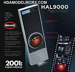 HAL9000 from 2001: A Space Odyssey 1:1 Scale Model Kit  by Moebius Models