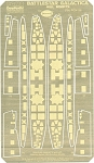 BATTLESTAR GALACTICA HULL INSERTS Photoetch Set by Paragrafix for Moebius Models kit 915