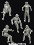 Hangar Crew Vol. V 1:72 Scale Resin Figures Kit by GREEN STRAWBERRY