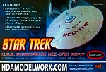 AZTEC, ALTERNATE NAME & REGISTRIES, & STRONGBACKS DECAL SET FOR THE U.S.S. ENTERPRISE NCC-1701 REFIT 1:350 Scale model kit  OUT OF PRODUCTION