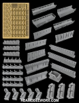 FRUITPACK VENATOR CLASS STAR DESTROYER RESIN AND PHOTOETCH DETAIL SETS for the Revell 1/2274 Scale Model Kit by GREEN STRAWBERRY