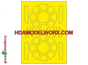 First Order TIE Fighter Paint Mask Set for the Bandai 1/72 Scale Model kit by GREEN STRAWBERRY