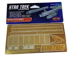 Star Trek Photo-Etch Sheet for the 1:350 Scale TOS U.S.S. Enterprise NCC-1701 by Polar Lights/Round2