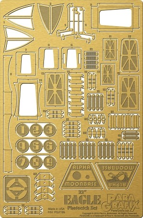 "22"" Eagle Photoetch Set 1/48 scale for the MPC Model Kit"