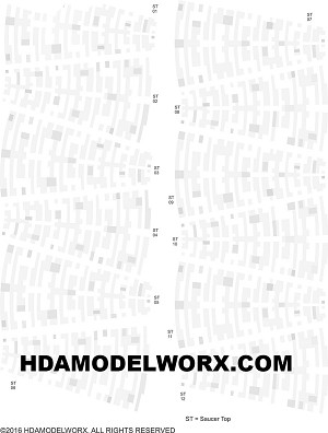 AZTEC DECAL SET FOR 537 Scale USS Enterprise Refit/A Model Kit by HDAmodelworx