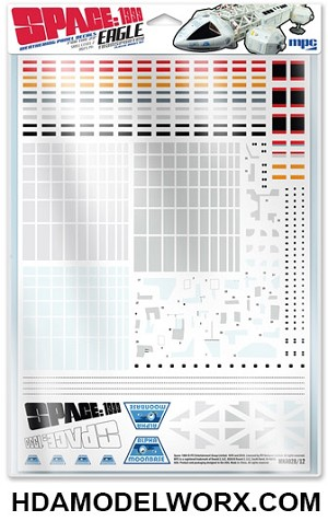 Space: 1999 Weathering Decals for the 22 inch Eagle Transporter Model Kit by MPC
