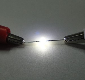 1.5mm White LED Butterfly Round Top TEN Pack With Resistors for 12v