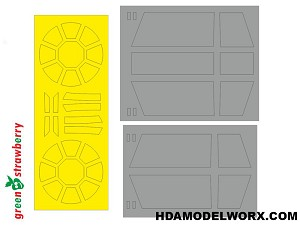 TIE Advanced x1 Fighter Paint Mask Set for the Bandai 1/72 Scale Model kit by GREEN STRAWBERRY