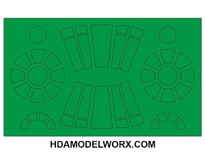 Millennium Falcon Paint Mask Set for the Finemolds/Revell 1/144 Scale Model kit by GREEN STRAWBERRY