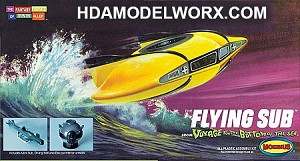 Mini Flying Sub from Voyage to the Bottom of the Sea Model Kit by Moebius Models