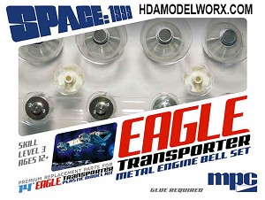 "SPACE:1999 EAGLE-1 TRANSPORTER Premium Replacement Metal & Plastic Parts for 14"" Plastic Model kit (MPC913) by MPC"