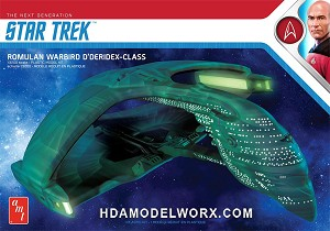 Star Trek the Next Generation ROMULAN WARBIRD D'DERIDEX CLASS 1:3200 Scale Model Kit  by AMT  COMING SOON!