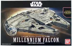 Star Wars Millennium Falcon 1:144 scale kit by BANDAI