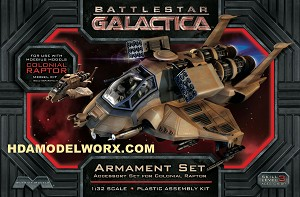 BATTLESTAR GALACTICA RAPTOR ARMANENT SET for the 1/32 SCALE model kit from Moebius Models.