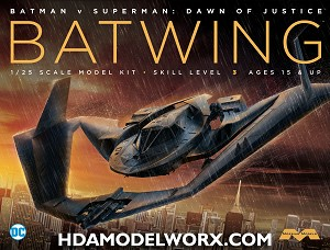 Batman v Superman BATWING: 1:25 Scale Model Kit