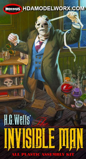The H.G. Wells' The Invisible Man 1/8th Scale Model Kit from Moebius Models