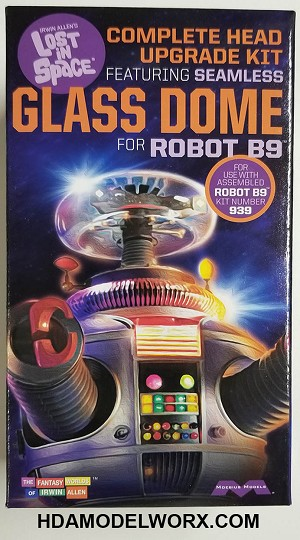 LOST IN SPACE: COMPLETE HEAD UPGRADE KIT FEATURING SEAMLESS GLASS DOME for ROBOT B9