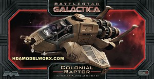 BATTLESTAR GALACTICA RAPTOR MODEL KIT 1/32 SCALE from Moebius Models.