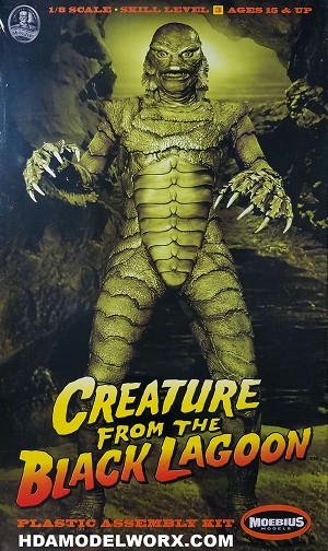 CREATURE FROM THE BLACK LAGOON 1:8 Scale Plastic Model Kit