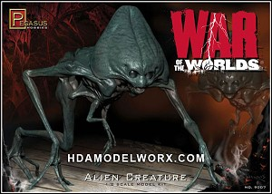 2005 WAR OF THE WORLDS ALIEN CREATURE 1/8th scale Model Kit by Pegasus Hobbies