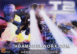 Terminator 2 Judgement Day Aerial HK Hunter Killer Machine 1:32 Scale Model Kit by Pegasus Hobbies