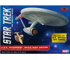 Star Trek TOS USS Enterprise SPACE SEED EDITION SNAP MODEL KIT 1000 SCALE
