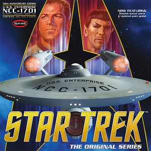 Classic Star Trek TOS USS Enterprise NCC-1701 50th Anniversary Edition 350 Scale Model Kit