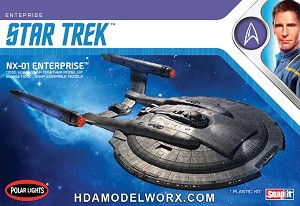 Star Trek NX-01 ENTERPRISE 1:1000 Scale Model Kit  by Polar Lights