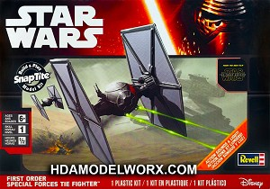 Star Wars First Order Special Forces TIE Fighter Build & Play SnapTite Model Kit by Revell