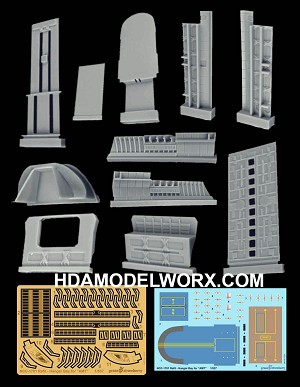 NCC-1701 USS ENTERPRISE REFIT HANGAR BAY SCALE Resin, Photo Etch, and Decals set for the 1/537 Scale AMT Model Kit by GREEN STRAWBERRY