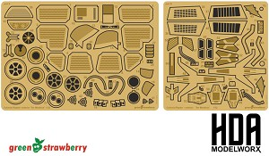 Exterior Photoetch set for the Moebius Models Battlestar Galactica Raptor model kit by GREEN STRAWBERRY