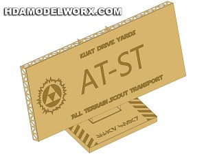 "Photo-etch Label/Plaque for  ""AT-ST"" for model base by GREEN STRAWBERRY"