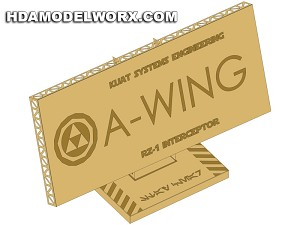 "Photo-etch Label/Plaque for  ""RZ 1 A-WING"" for model base by GREEN STRAWBERRY"