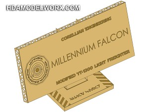 "Photo-etch Label/Plaque for  ""MILLENNIUM FALCON"" for model base by GREEN STRAWBERRY"