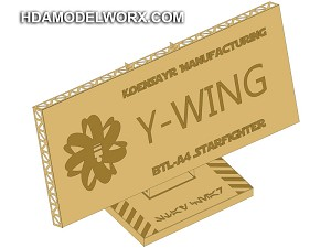"Photo-etch Label/Plaque for  ""BTL A-4 Y-WING"" for model base by GREEN STRAWBERRY"