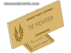 "Photo-etch Label/Plaque for ""TIE FIGHTER"" for model base by GREEN STRAWBERRY"