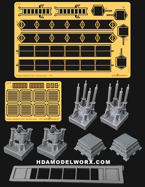 Hangar Equipment Vol. ll Full Resin kit with Photoetch set 1:72 Scale Model Kits by GREEN STRAWBERRY