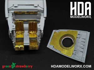 Photoetch set for the Bandai AT-ST model kit by GREEN STRAWBERRY   COMING SOON!