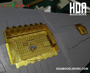Hangar Bay Photoetch set for the Zvezda / Revell Star Destroyer scale 1/2700 Set by GREEN STRAWBERRY   COMING SOON!