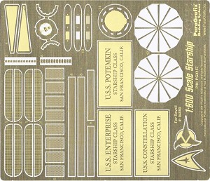 Revell Enterprise Photoetch Set 1:600 scale Photoetch Set by Paragrafix for the Revell #04880 Model kit