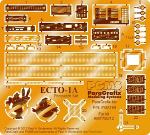 Ghostbusters Ecto-1A Photoetch Set for the 1:25 scale model kit from AMT by PARAGRAFIX