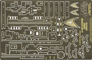 18 inch Enterprise Window Templates 1:650 scale Photoetch Set by Paragrafix for the AMT610 & Classic Releases of the Model kit