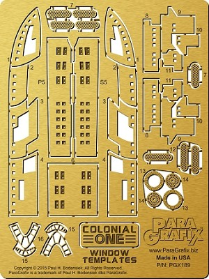 Colonial One Window Photoetch Set for the Moebius Kit #945