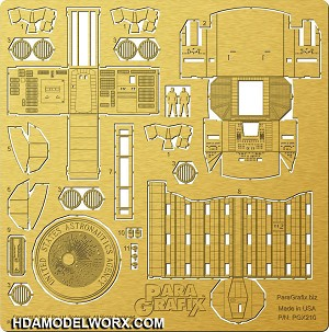 Discovery XD-1 Cockpit and Airlock Photoetch Set for the Moebius Model kit by Paragrafix